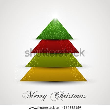 Christmas tree simple colorful vector creative design