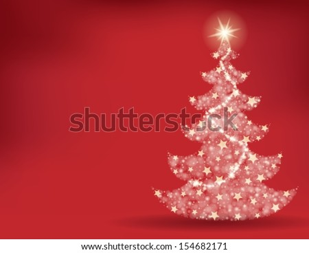 Christmas tree topic background 2 - eps10 vector illustration.