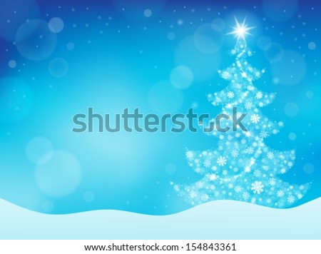 Christmas tree topic background 4 - eps10 vector illustration. - stock vector