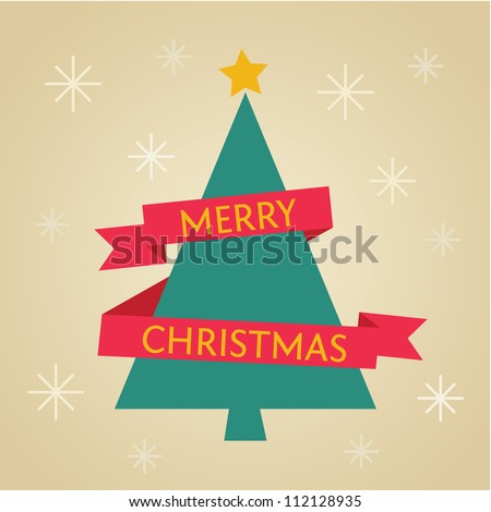Christmas tree vector - stock vector