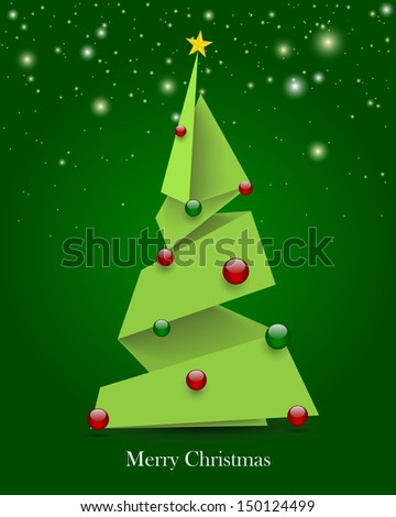 Christmas tree, vector - stock vector
