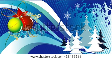 christmas tree vector composition
