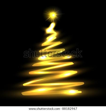 Christmas tree. Vector eps10 illustration - stock vector