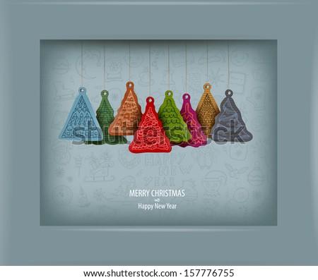 Christmas tree. Vector illustration - stock vector