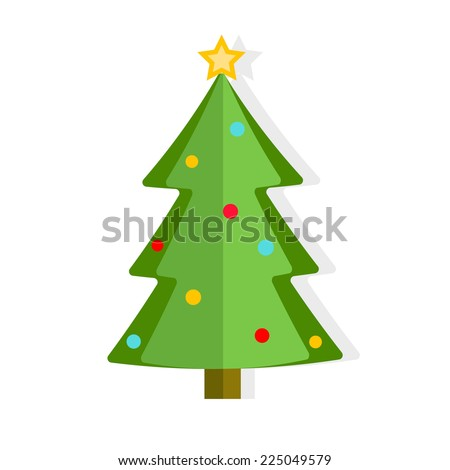 Christmas tree, vector illustration - stock vector