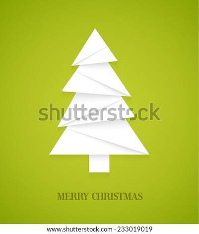 Christmas tree. Vector illustration. - stock vector