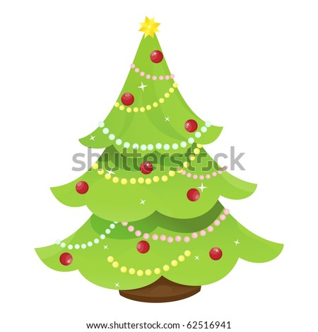 Christmas tree (vector version) - stock vector
