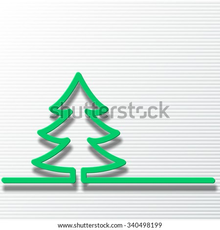 Christmas tree with a strip of torn paper - stock vector