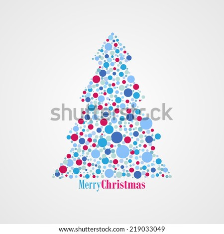 Christmas tree with dots