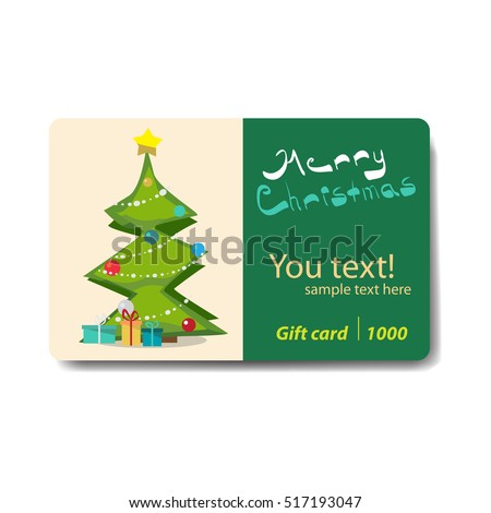 Christmas tree gifts lying under it stock vector 517193047 christmas tree with gifts lying under it sale discount gift card branding design for negle Choice Image
