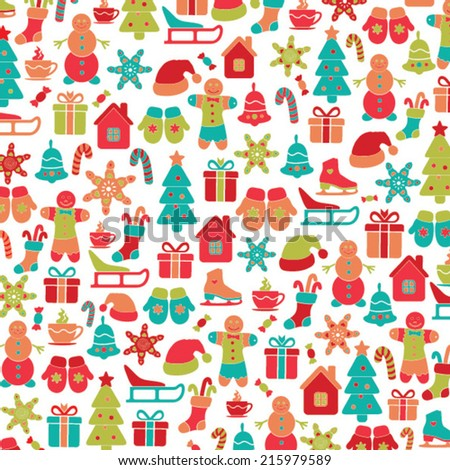 Christmas vector background - stock vector