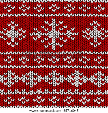 Christmas vector background, jumper with snowflakes - stock vector
