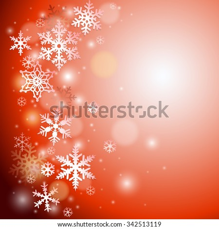 Christmas vector background with snowflakes - stock vector