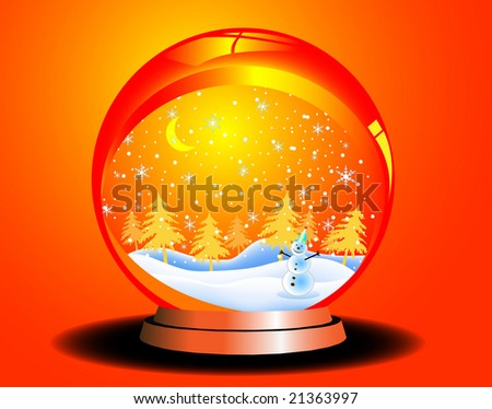 Christmas vector ball