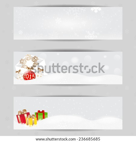 Christmas vector banners 400 x 120 size, design for Your website or advertising. - stock vector
