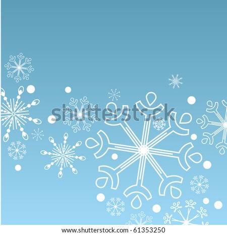 Christmas vector blue background - stock vector