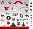 Christmas vector elements collection - stock photo