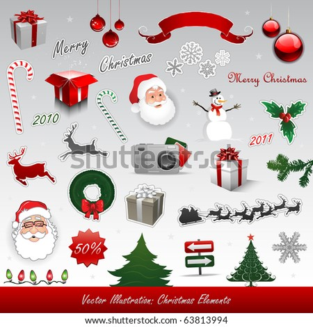 Christmas vector elements collection - stock vector