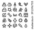 Christmas Vector Icons 4 - stock vector