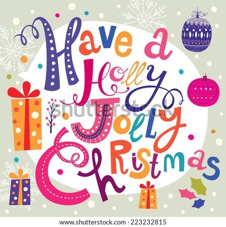 Christmas vector illustration. Holiday greeting card - stock vector