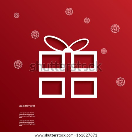 Christmas vector illustration with cutout 3d effect suitable for Christmas cards, sales promotion. Eps10 vector illustration - stock vector