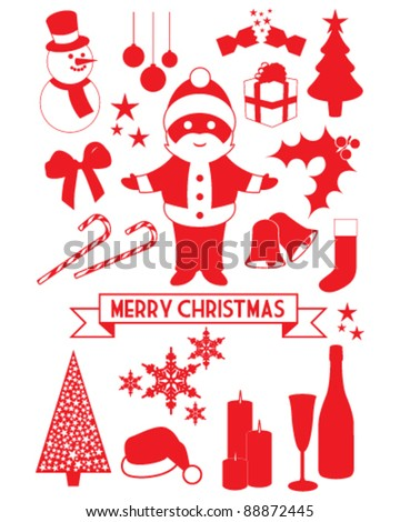Christmas vector illustrations - stock vector