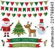 Christmas vector set - stock photo