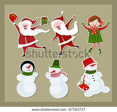 Christmas vector set - stock vector