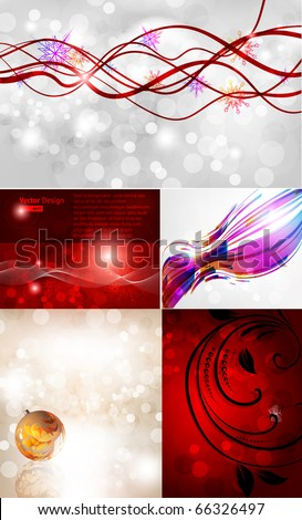 Christmas vector set for new year design. eps 10 - stock vector