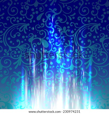 Christmas vintage background, vector.  - stock vector