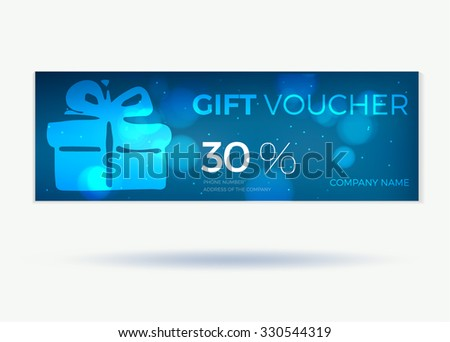 Gift Voucher Card Set Template Monetary Stock Vector