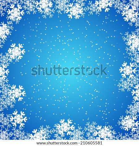 Christmas wallpaper, background with snowflakes/vector illustration