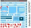 Christmas web design elements set. Vector illustration - stock vector
