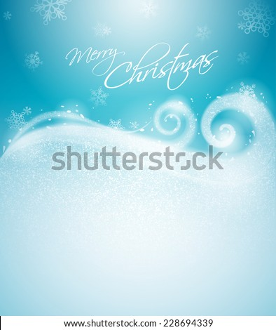 Christmas winter background - stock vector