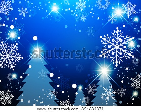 Christmas Winter Holiday Abstract Background With Snowflakes - stock vector