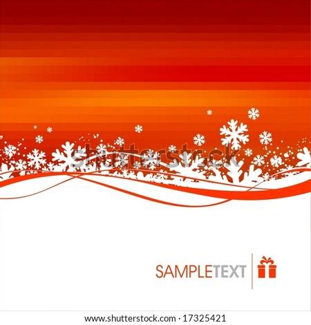 Christmas, winter illustration - stock vector