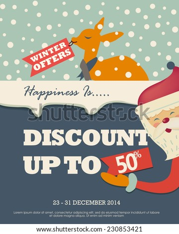 Christmas Winter Sale - stock vector