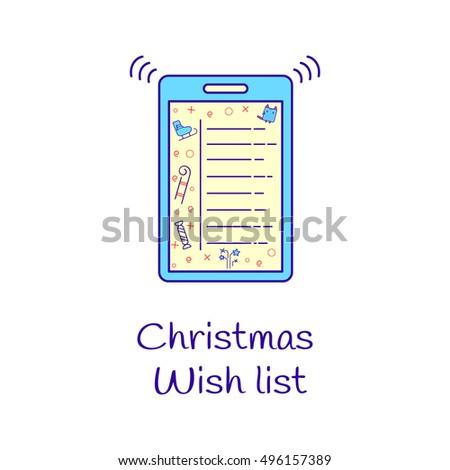 Cartoon Christmas Wish List Hedgehog On Vector 522779209 – Santa Wish List for Kids