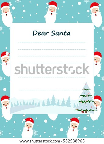 Christmas New Year Background Template Decorated Stock Vector