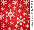 Christmas wooden snowflakes seamless pattern card background. illustration background. Vector illustration layered for easy manipulation and custom coloring. - stock vector