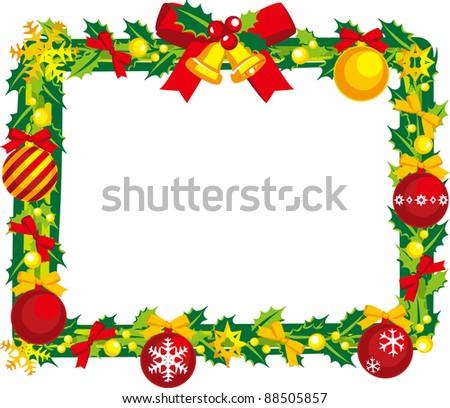 Christmas wreath - stock vector