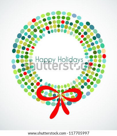 Christmas wreath with pattern