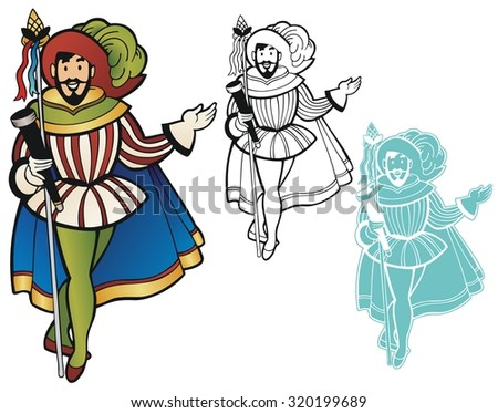 Christopher Columbus, for his holiday - stock vector