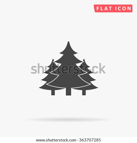Chritmas spruce Icon Vector.  - stock vector