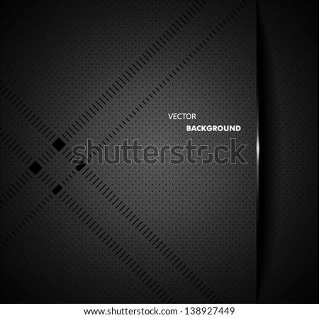 Chrome black background - stock vector