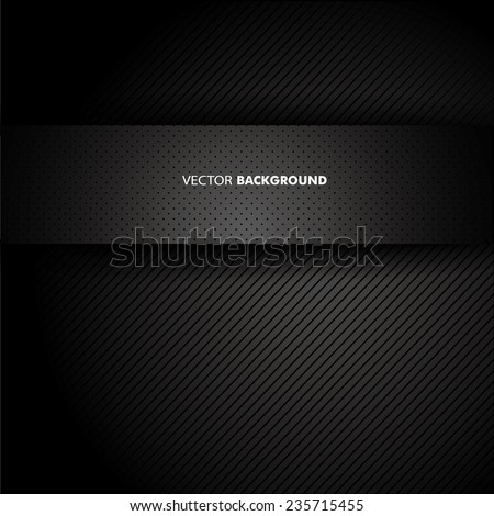 Chrome black background - stock vector