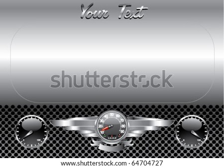 chrome dashboard - stock vector