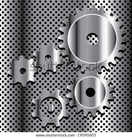 chrome mechanism - stock vector