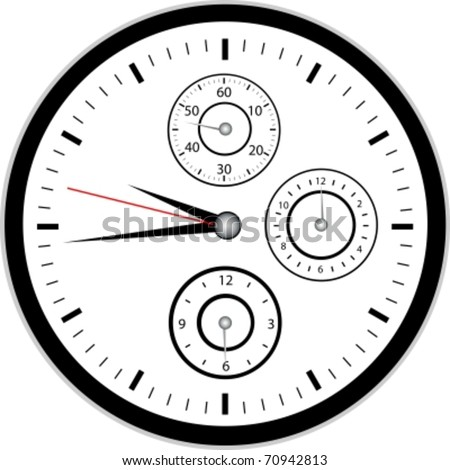 Chrono Watch - stock vector