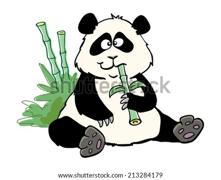 Chubby Panda - stock vector